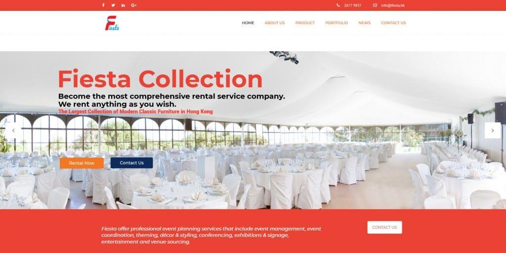 HK Rental furniture web design