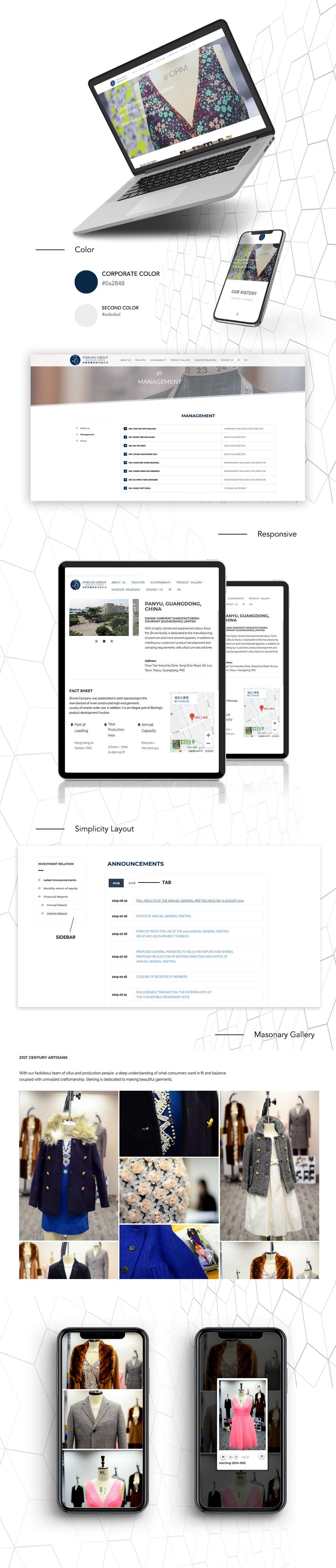 HK Corporate web design